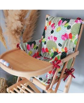 Coussin chaise enfant cactus