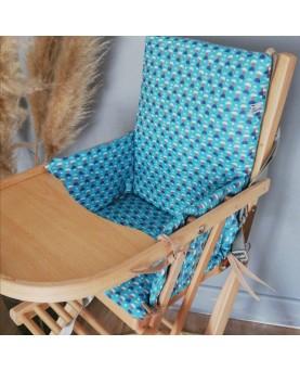 Coussin chaise enfant bleu...