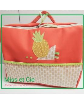 Valise sac à langer orange...