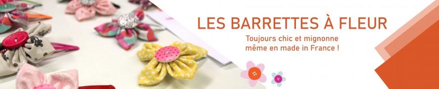 Barratte fille | Barrette à Fleur | Barrette en Tissu |Range barrettes