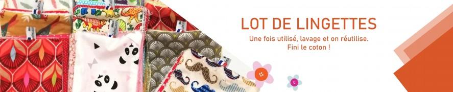 Lingette Bébé | Lingette demaquillante | Zero dechet lingettes coton