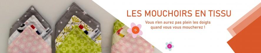 Mouchoir en Tissus 100 % coton | Mouchoir enfant | Mouchoir Fille